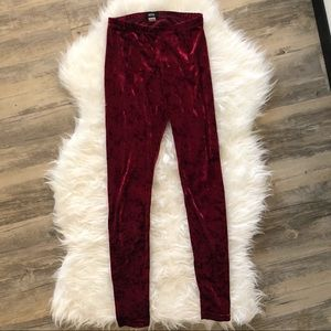 BDG Pants Crushed Velvet Leggings